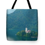 Lake Bled Island Tote Bag