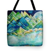 Lake By The Moon Light Tote Bag