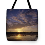 Lake Cassidy With Mount Pilchuck Tote Bag