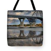 Lake Champlain New Bridge Tote Bag