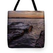 Lake Champlain Sunset Burlington Vermont Oakledge Park Tote Bag