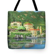 Lake Como Morning Tote Bag
