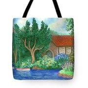 Lake Cottage Tote Bag