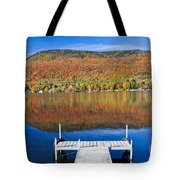 Lake Elmore Autumn Tote Bag