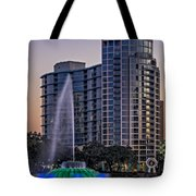 Lake Eola Water Fountain  Tote Bag