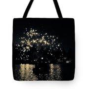 Lake Fireworks Tote Bag