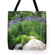 Lake George Irises Tote Bag