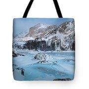 Lake Haiyaha Winter Tote Bag