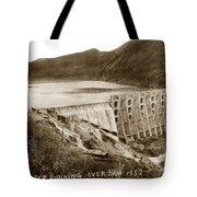 Lake Hodges And Dam San Diego County California  1952 Tote Bag