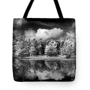Lake In Black And White One Tote Bag