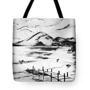 Lake In Guatemala Tote Bag