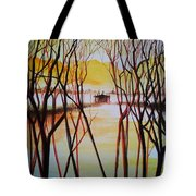 Lake In The Morning Tote Bag