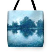 Lake In The Morning Tote Bag