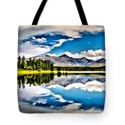 Lake In The Mountains Tote Bag
