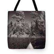 Lake Kayaking Bw Tote Bag