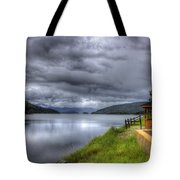 Lake Koocanusa At Libby Dam Tote Bag