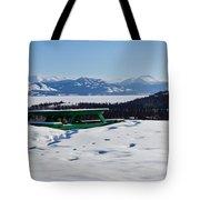 Lake Laberge Yukon Territory Canada In Winter Tote Bag