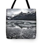 Lake Louise - Black And White #2 Tote Bag