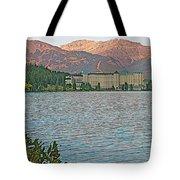 Lake Louise Chateau At Sunset In Banff Np-alberta Tote Bag