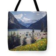 1m3520-h-lake Louise Chateau Tote Bag