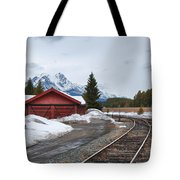 Lake Louise Depot Tote Bag