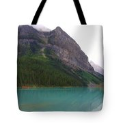 Panoramic Lake Louise, Alberta - Morning Reflections Tote Bag
