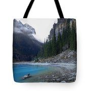 Lake Louise North Shore - Canada Rockies Tote Bag by Daniel Hagerman