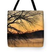 Lake Louise Sunrise Through The Trees Tote Bag
