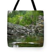 Lake Mcdonald Falls River Glacier National Park Tote Bag