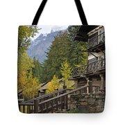 Lake Mcdonald Lodge In Glacier National Park Tote Bag