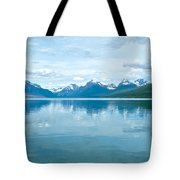 Lake Mcdonald Reflection In Glacier  National Park-montana Tote Bag