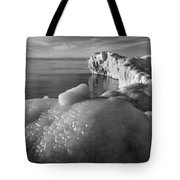 Lake Michigan Ice X Tote Bag