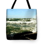 Lake Michigan In An Angry Mood Tote Bag