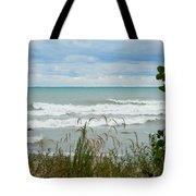 Lake Michigan In Racine Tote Bag