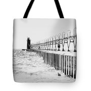 Lake Michigan Lighthouse Tote Bag