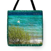 Lake Michigan Seagull In Flight Tote Bag