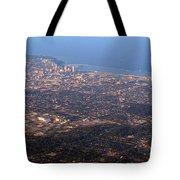 Lake Michigan Shoreline - Downtown Milwaukee  Tote Bag