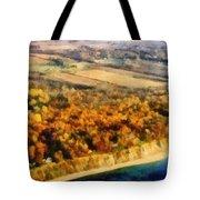Lake Michigan Shoreline In Autumn Tote Bag