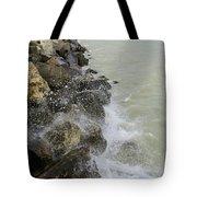 Lake Michigan Splash Tote Bag