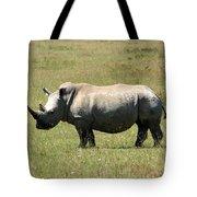 Lake Nakuru White Rhino Tote Bag