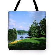 Lake On A Golf Course, Legend Course Tote Bag