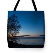 Lake Ontario Blue Hour Tote Bag