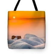 Lake Pepin Winter Sunrise Tote Bag