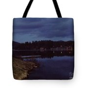 Lake Placid At Night Tote Bag