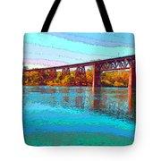 Lake Redding Ca Digital Painting Tote Bag