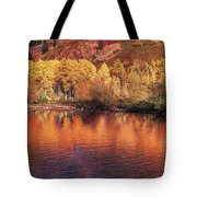 Lake Reflection In Fall 2 Tote Bag