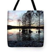Lake Reflections At Sunset Tote Bag