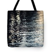 Lake Ripples In Blue At Sunset Tote Bag