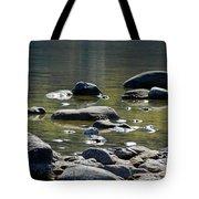 Lake Rocks Tote Bag