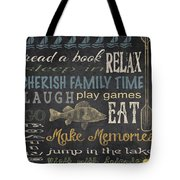 Lake Rules-relax Tote Bag